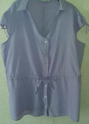 Блуза, блузка летняя,сорочка casablanca большой размер