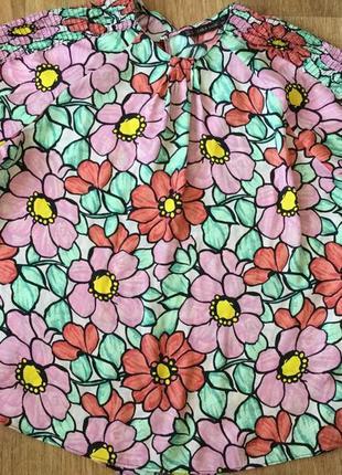 Яркая легкая блуза в крупных цветах, цветочный принт, р. 44-46