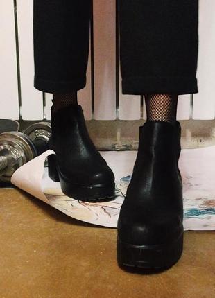 Кэжуал ботинки массивный каблук