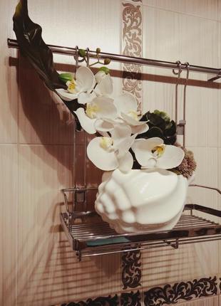 Замечательная ваза в форме морской раковины из глазурованной керамики!!!
