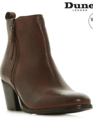 Новые кожаные демисезонные ботинки ботильоны dune london р 38
