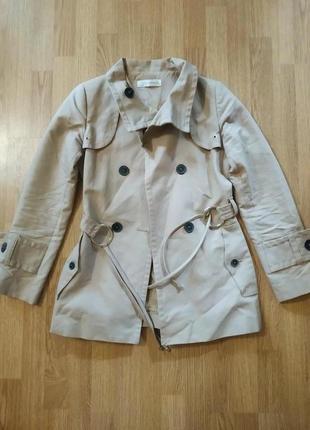 Акция до 25.10! фирменный бежевый тренч пальто