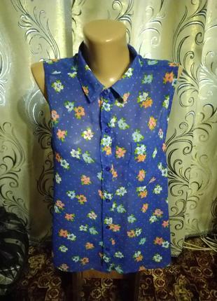 Стильная женская блуза с цветочным принтом hollister