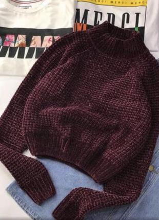Велюровый свитер h@m