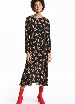 Шикарное миди платье в вишенки