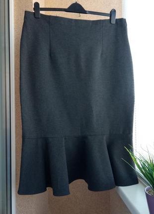 Красивая стильная юбка из плотного трикотажа