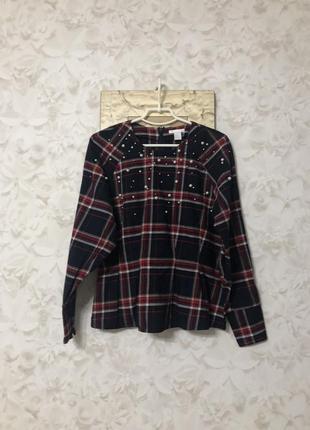 Стильная блузка с жемчужными бусинками h&m!