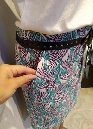 Крутая стильная юбка карандаш мини на молнии сзади новая
