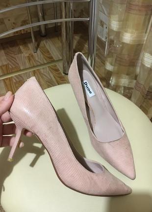 Нежно-розовые туфли dune распродажа вещи до 100грн