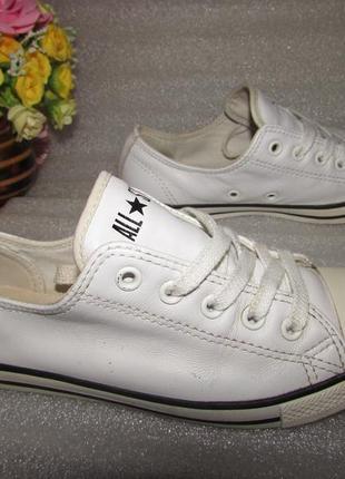 Белые кожаные кеды ≈ converse all star ≈ вьетнам р 35 / 22 см