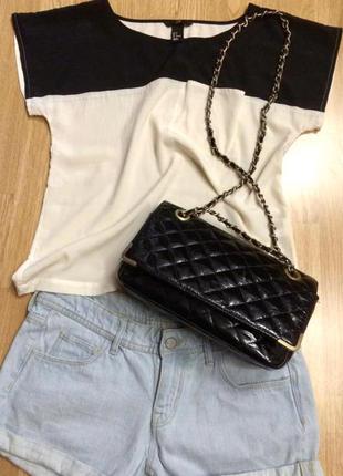 Фирменная лаковая сумка кросс-боди zebra,сумочка на цепочке