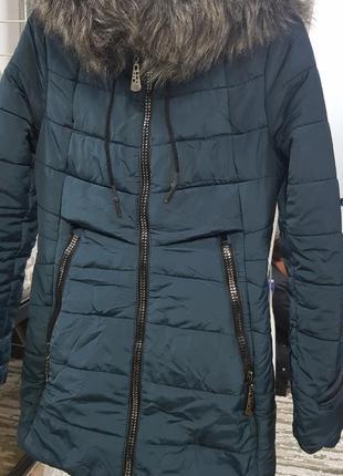 Куртка зимняя зеленая