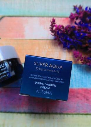 Увлажняющий крем с гиалуроновой кислотой missha super aqua ultra hyalron cream original