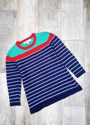 Xs|s джемпер с яркими полосами ,шерсть clements ribeiro woolmark