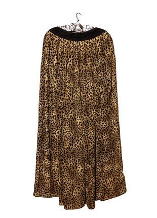 Леопардовая юбка в пол