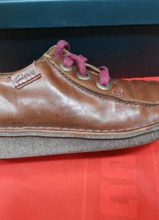 Кожаные туфли clarks (размер -4)
