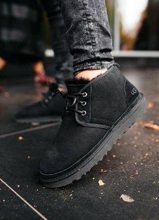 """Шикарные мужские теплые зимние ботинки ugg neumel """"black"""""""