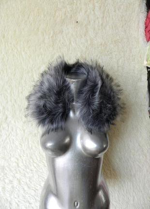 ✅ пушистый воротник опушка эко мех чернобурка на любую одежду куртка пальто пиджак
