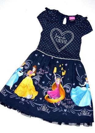 George. нарядное платье с пышной юбкой с принцессами. 2-3 года. рост 92-98см
