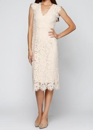 Шикарное кружевное платье миди h&m