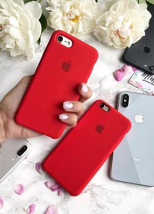 Чохол на айфон силіконовий apple silicone case для iphone