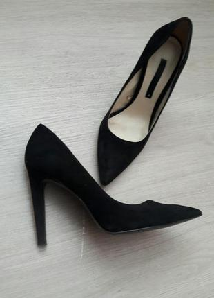 Туфлі замшеві zara