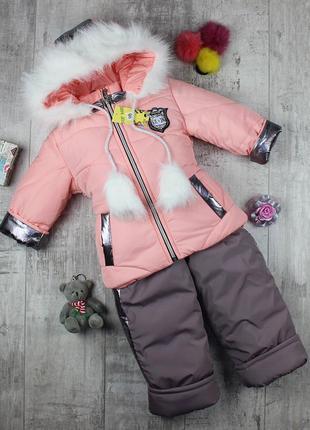 Замечательные зимние комбинезоны для девочки