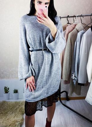 Оригинальное и теплое платье
