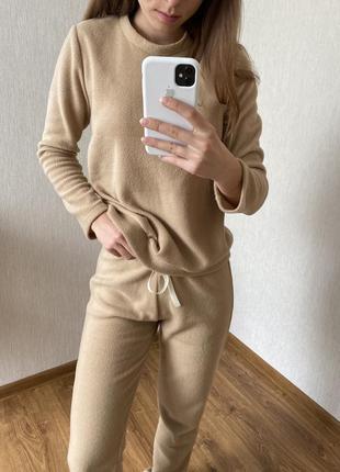 Флисовая теплая пижамка, флисовый костюм, флісова піжама 25 кольорів
