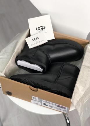 Шикарные мужские сапоги угги ugg classic ii mini black чёрные😃 {зима}