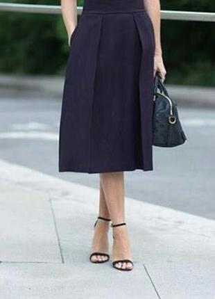 Качественная юбка трапеция с кармашками