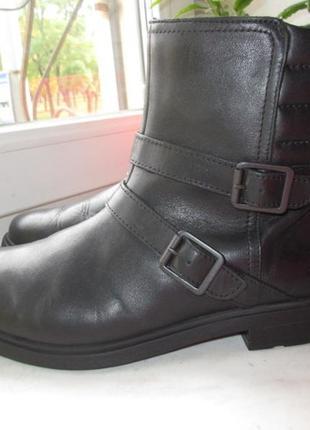 Кожаные деми ботинки clarks 38 р