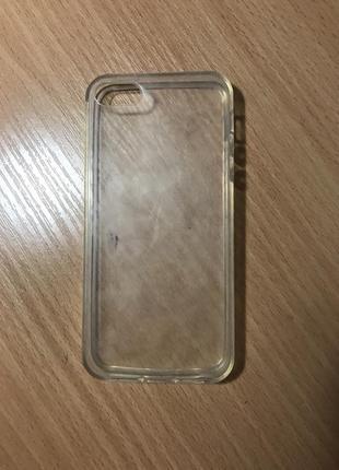 Чехол на iphone 5, 5s, se прозрачный айфон