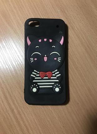 Чехол на iphone 5, 5s, se с котиком айфон