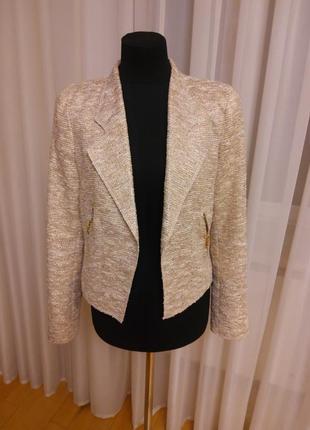 Новогодний супер пиджак.жакет в стиле chanel  от zara woman раз.м