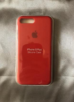 Красный чехол iphone 7/8 plus +