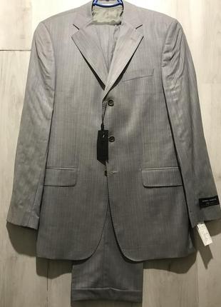 Мужской классический костюм daniel rizotto серебряно-серого цвета 078 (56)