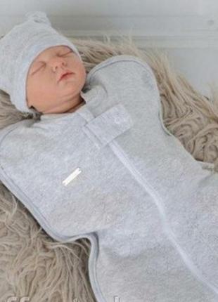 Кокон,спальник с шапочкой для малыша 0-3 мес.