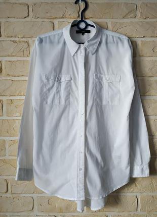 Натуральная, удлиненная, базовая рубашка