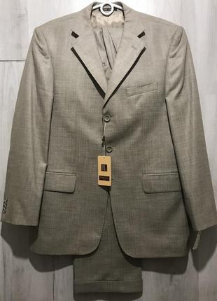 Мужской классический костюм pierre louis бежево-песочный 079 (50)