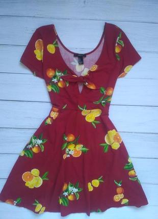 Платье в цитрусовый принт