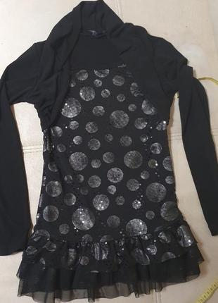 Нарядное платье туника фирменное  122-134 рост, 5-9 лет