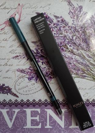 Lasting precision automatic eyeliner автоматический зеленый карандаш kiko для глаз