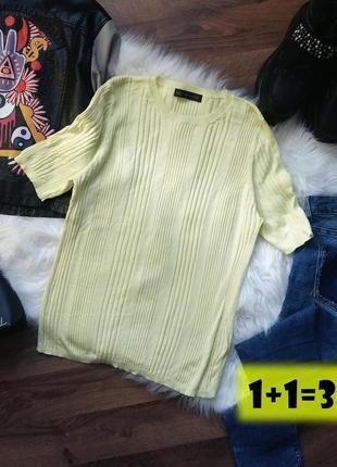 M&s базовый пуловер в рубчик m-l желтый неон лимонный джемпер блузка блуза свитер кофта