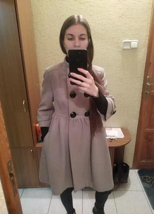 Пальто-силуэт в стиле шанель