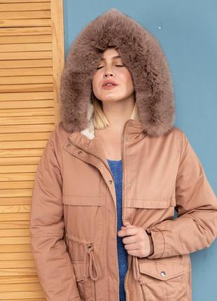 Куртка шикарная парка яркий хит весна 2020 опушка финский песец! италия saga furs