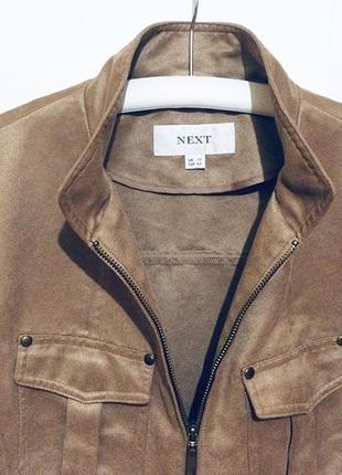 Брендовая женская короткая коричневая куртка курточка ветровка next
