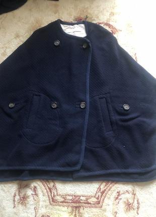 Стильное шерстяное пальто пончо see by chloe