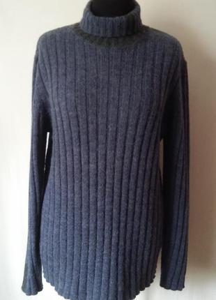 Вязаный шерстяной свитер с шерстью альпаки