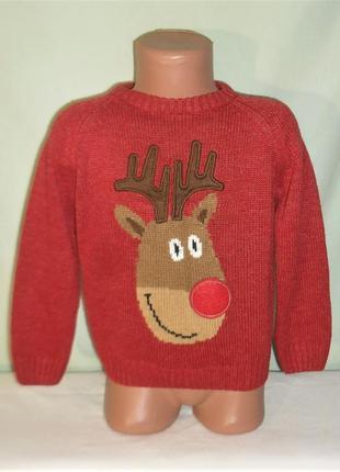 Новогодний свитер на 2-4годика